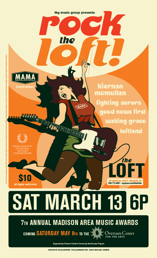 MAMA Fundraising event poster
