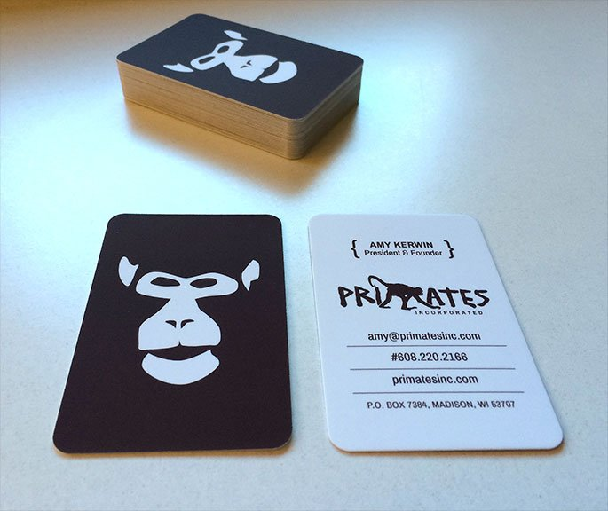 Primates Incorporated business card
