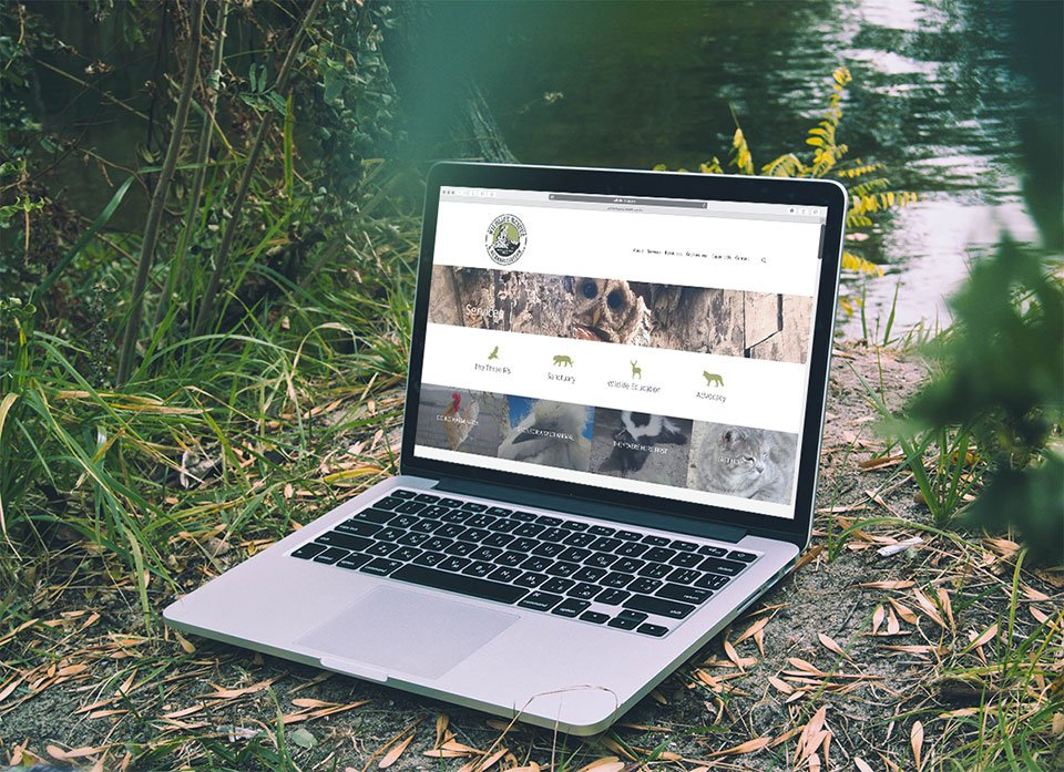 Wildlife Rescue & Rehabilitation website on laptop