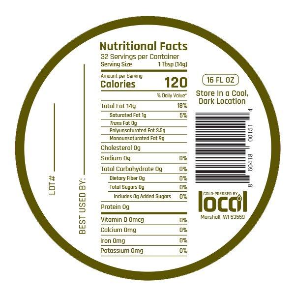 Farm Fresh Canola oil nutritional label