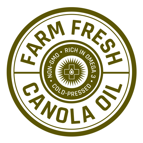 Farm Fresh Canola oil label