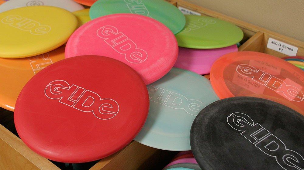 Phonographik Design Studio – Glide logo disc golf stamps