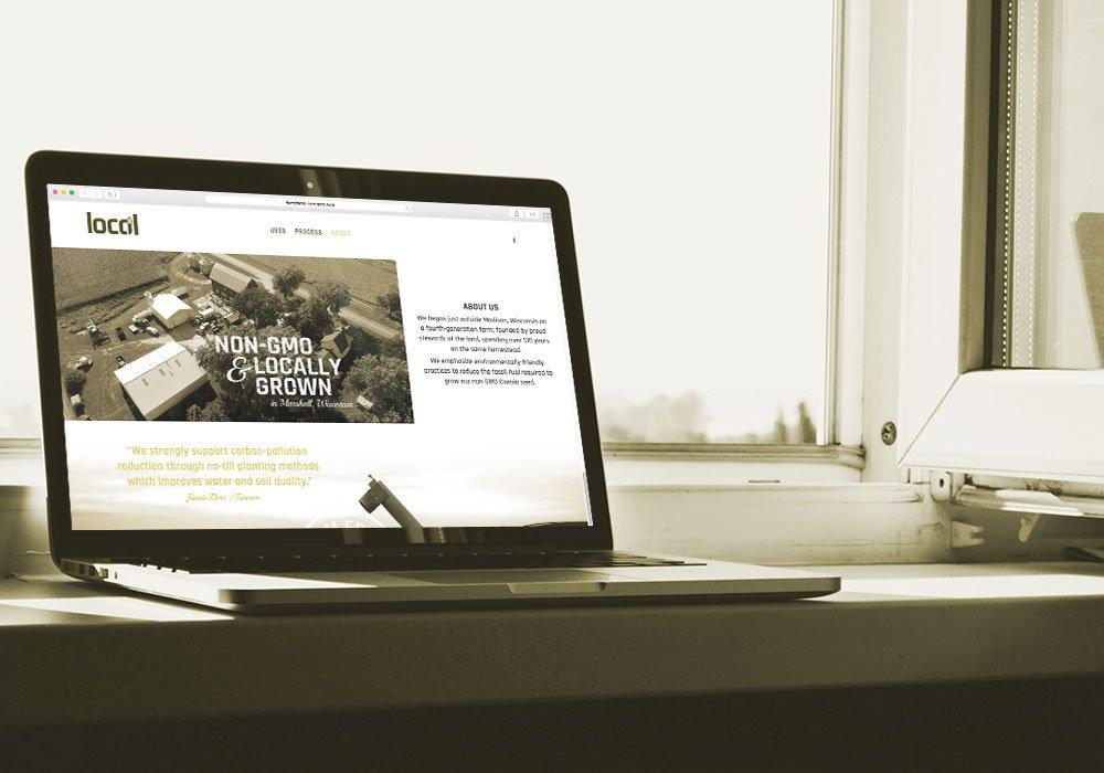 Locoil website on laptop