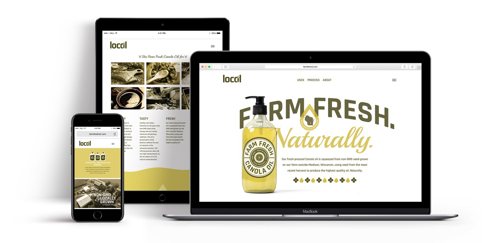 Website and brand identity for Locoil & Farm Fresh Oil