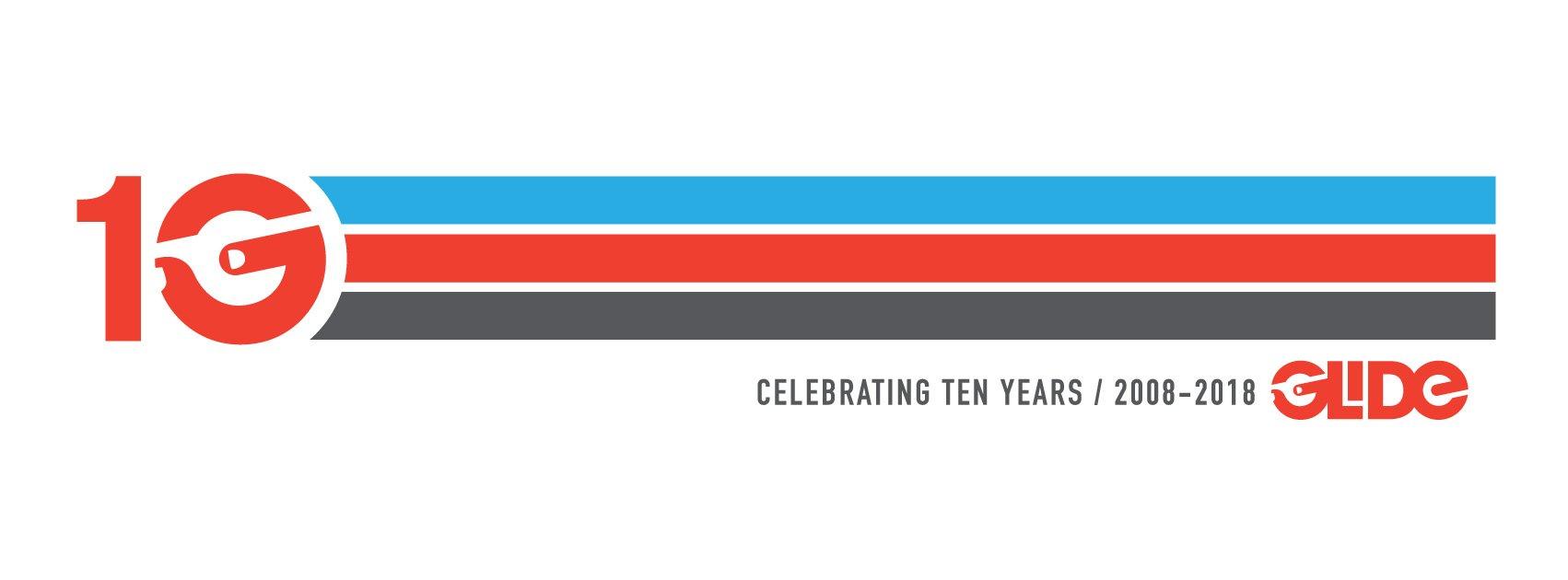 Glide 10 year anniversary banner