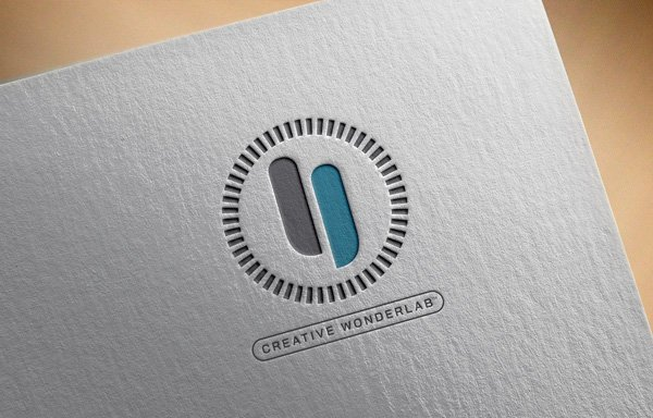 Innervoice logo mark on letter-pressed stationary