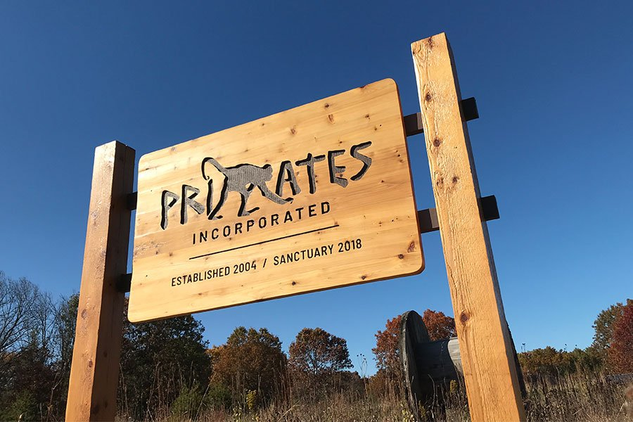 Primates Incorporated entrance sign