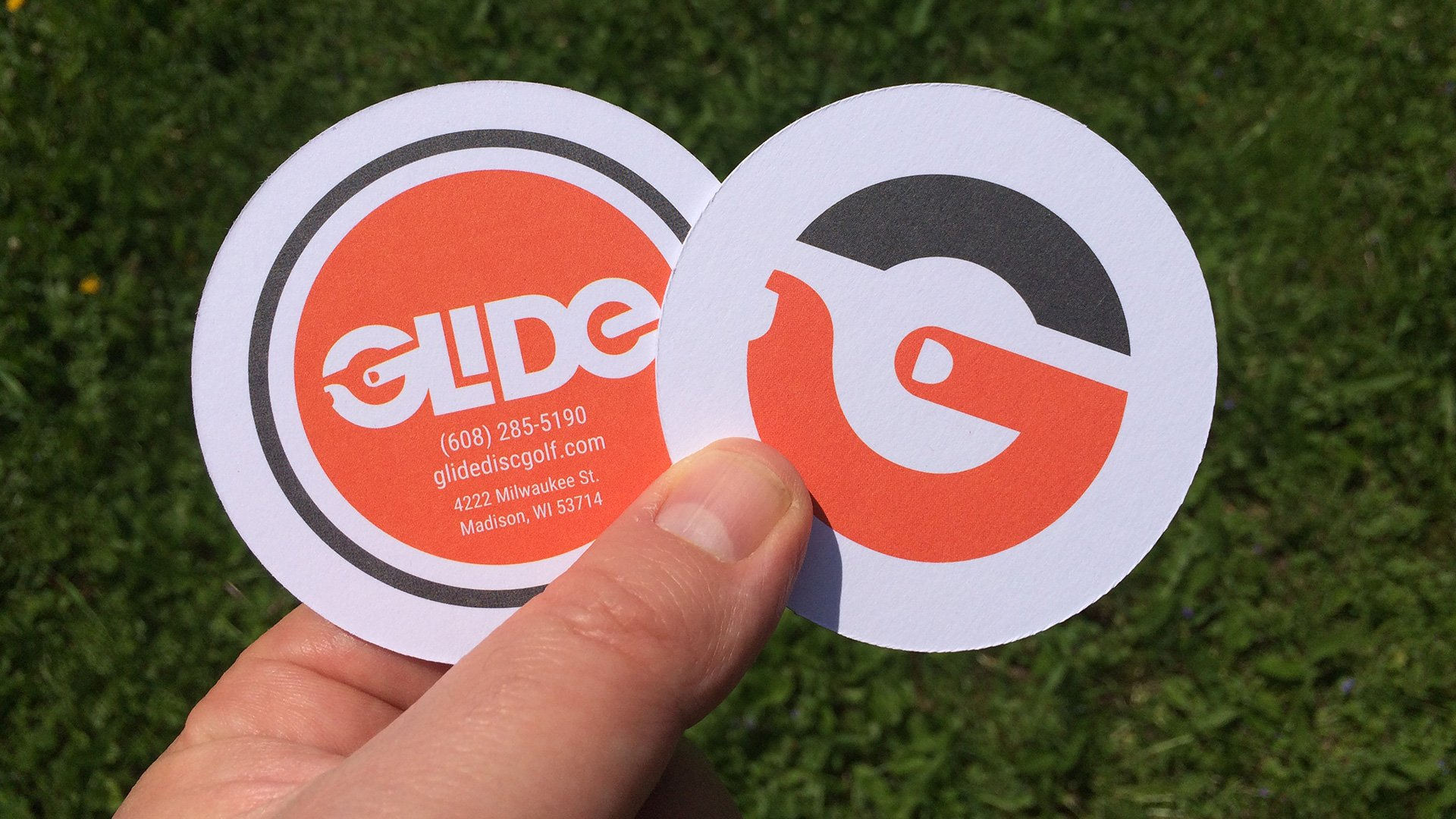 Glide Disc Golf business card