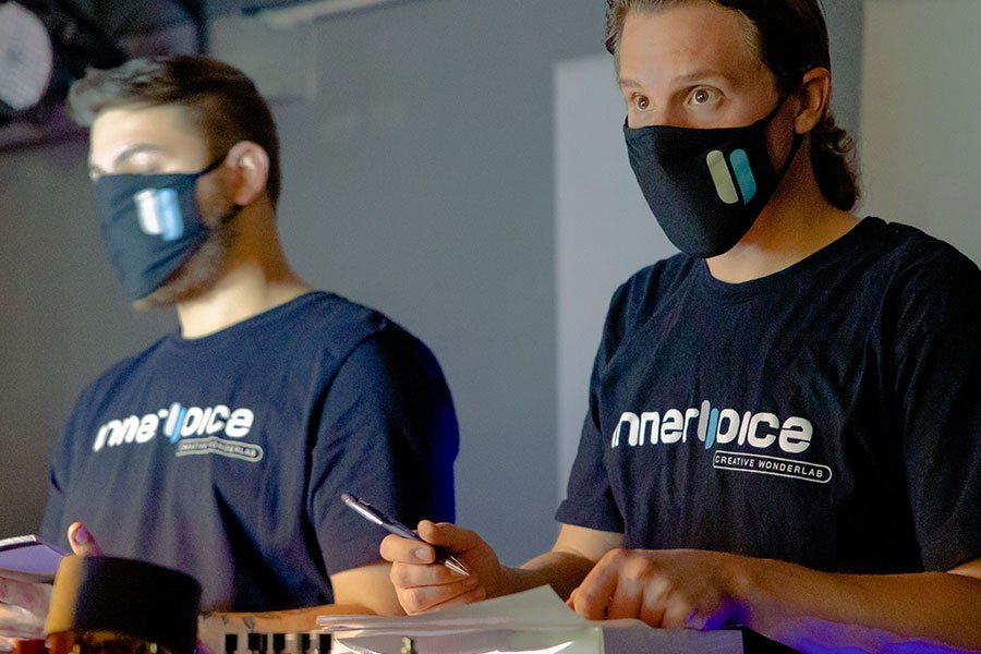 photo of Innervoice technicians